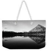 Evening Reflection Bw Weekender Tote Bag