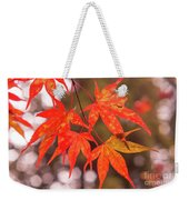 Fall Color Maple Leaves At The Forest In Kochi, Japan Weekender Tote Bag