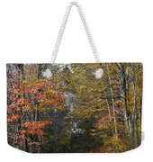 Fall Lane Weekender Tote Bag