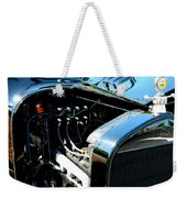 Female View At A Car Show Weekender Tote Bag