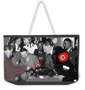 Ferdinand Porsche Showing The Prototype Of The Vw Beetle To Adolf Hitler 1935-2015 Weekender Tote Bag