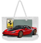Ferrari Sergio With 3d Badge  Weekender Tote Bag by Serge Averbukh