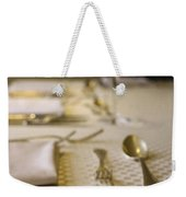 Festive Table Setting For A Formal Dinner  Weekender Tote Bag