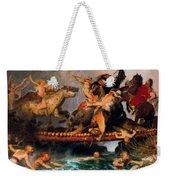 Fighting On A Bridge  Weekender Tote Bag