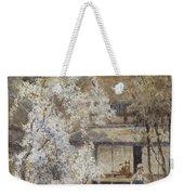 Figure In A Japanese Landscape Weekender Tote Bag