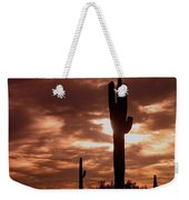 Film Homage Orson Welles Saguaro Cacti The Other Side Of The Wind Carefree Arizona 2004 Weekender Tote Bag