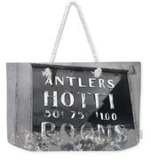 Film Noir Ray Teal Anthony Caruso Scene Of The Crime 1949 Antlers Hotel Victor Colorado 1971-2013 Weekender Tote Bag