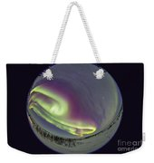 Fish-eye Lens View Of The Northern Weekender Tote Bag