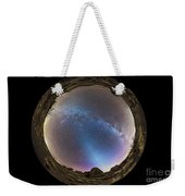 Fish-eye Panorama Of Milky Way Weekender Tote Bag