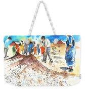 Fishermen In Praia De Mira Weekender Tote Bag