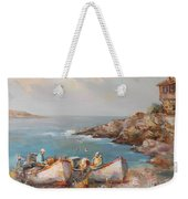 Fishermen With Boats Weekender Tote Bag