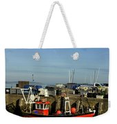 Fishing Boats At Whitstable Harbour 02 Weekender Tote Bag