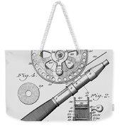 Fishing Reel Patent 1906  Weekender Tote Bag