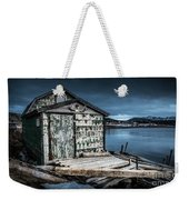 Fishing Shack And Wharf In Norris Point, Newfoundland Weekender Tote Bag