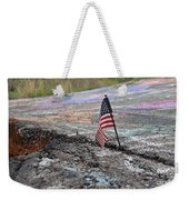 Flag In A Crack In The Pavement Weekender Tote Bag