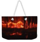 Flaming Houses Lights Water Reflection Christmas Arizona City Arizona 2005 Weekender Tote Bag