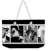 Floral Collage Weekender Tote Bag