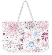 Floral Doodles Weekender Tote Bag
