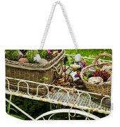 Flower Cart In Garden Weekender Tote Bag