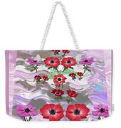 Flower Mania Anemone Fantasy Wave Design Created Of Garden Colors Unique Elegant Decorations Weekender Tote Bag