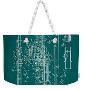 Flute Patent Drawing 2f Weekender Tote Bag