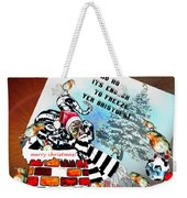 Football Derby Rams Against Bristol Robins Weekender Tote Bag