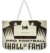 Football Hall Of Fame #1 Weekender Tote Bag