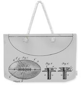 Football Patent Drawing From 1903 Weekender Tote Bag