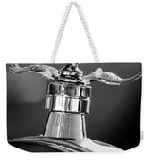 Ford Winged Hood Ornament Black And White Weekender Tote Bag
