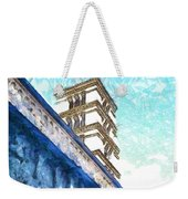Foreshortening With Bell Tower Weekender Tote Bag