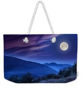 Forest On A Steep Mountain Slope Weekender Tote Bag