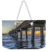 Fort Myers Beach Fishing Pier Weekender Tote Bag by Edward Fielding