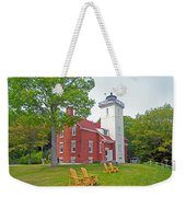 Forty Mile Point Lighthouse Weekender Tote Bag