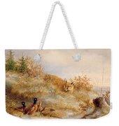 Fox And Pheasants In Winter Weekender Tote Bag