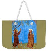 Francis And Claire Triptych Weekender Tote Bag