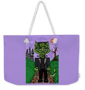 Frankenstein Cat Weekender Tote Bag