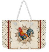 French Country Roosters Quartet Cream 2 Weekender Tote Bag