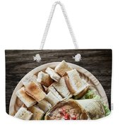 Fresh Crab Seafood Cream Mousse With Toast Tapas Snack Weekender Tote Bag