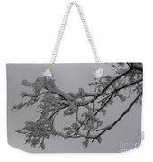 Fresh Snow On Magnolia Tree Weekender Tote Bag