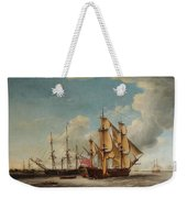 Frigates Receiving Their Captains Weekender Tote Bag