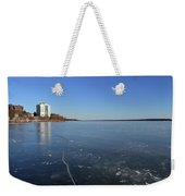 Frozen Crack In The Ice  Weekender Tote Bag