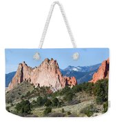 Garden Of The Gods Park In Colorado Springs In The Morning Weekender Tote Bag