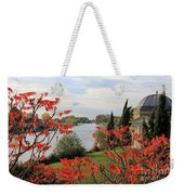 Garrick Temple On The River Thames At Hampton Weekender Tote Bag