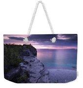 Georgian Bay Cliffs At Sunset Weekender Tote Bag