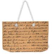 Gettysburg Address Weekender Tote Bag