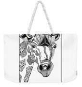 Giraffe Weekender Tote Bag by Barbara McConoughey