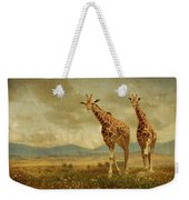 Giraffes In The Meadow Weekender Tote Bag