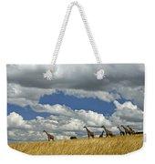 Giraffes On The Horizon Weekender Tote Bag