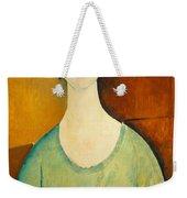 Girl In A Green Blouse Weekender Tote Bag