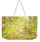 Glimpse Of A Stream In Autumn Weekender Tote Bag